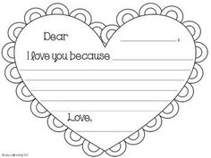 FREEBIE! Valentine's Day Letter Writing