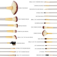 Pro Makeup Brushes Cosmetic Tool Kit Eyebrow Shadow Powder Brush Set Bag Condition: New: A brand-new, unused, unopened, undamaged item (including handmade items). See the seller's listing for full details. See all condition definitions- opens in a ne Makeup Brush Uses, Makeup 101, Makeup Brush Cleaner, Makeup Brush Holders, Makeup Guide, Makeup Tools, Skin Makeup, Makeup Hacks, Eyebrow Makeup