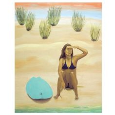 Originals · Artistic Surf - Jenn C Lindquist Surfer Girl available in canvas print. Pin to save for later Your Paintings, Original Paintings, Original Art, Beach Wall Art, Painting Videos, Mermaid Art, Beach Girls, Beach House Decor