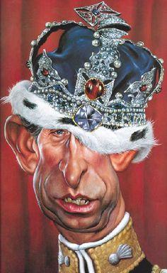 Prince Charles caricature (by Sebastian Kruger) Prince Charles, Prince Philip, Cartoon Faces, Funny Faces, Cartoon Art, Funny Caricatures, Celebrity Caricatures, Celebrity Drawings, Sebastian Kruger