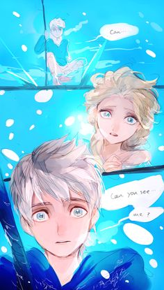 Frozen's Elsa and Rise of the Guardians' Jack Frost. Time for a fanfiction. Film Manga, Art Manga, Jelsa, Arte Disney, Disney Art, Disney And Dreamworks, Disney Pixar, Jack Frost And Elsa, Rise Of The Guardians