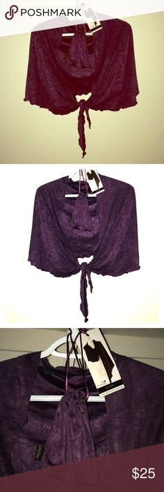 "SALE! Violet shrug w/ pouch Adorable & quite functional lil' ""to-go"" shrug-wrap by Chilly Jilly. Color is a deep rich purple violet shade that's so lovely. Light sorta stretchy fabric. Has a matching pouch to fold it up in and take in your purse & whip out when..your, well, Chilly❄️☃️. Perfect for any occasion, like a movie or dinner date or give as a gift-stocking stuffer alert! 👍🏼😊NWT, chilly jilly Accessories Scarves & Wraps"