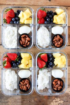 This DIY Breakfast Protein Snack Box is so easy to put together and perfect for grab and go or taking to work. These are some of my favorite breakfast foods. Fresh colorful fruit, a hardboiled egg, cottage cheese and roasted almonds for a little crunch. Some mornings are so hectic, it's a lifesaver to have …