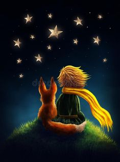 Little prince stock illustration. Illustration of dark - 70484157 Wallpaper Iphone Cute, Galaxy Wallpaper, Little Prince Fox, Easy Canvas Painting, Belly Painting, Dark Places, Watercolor Illustration, Fine Art Photography, Artwork