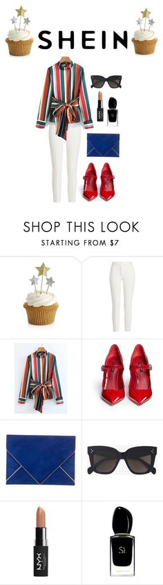 """""""fashion"""" by ee3674889 ❤ liked on Polyvore featuring Crate and Barrel, Joseph, Dolce&Gabbana, Azzaro, CÉLINE, NYX and Giorgio Armani"""