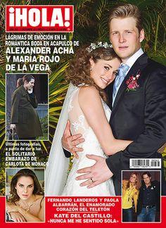 Esta semana en ¡HOLA!: Lágrimas de emoción en la romántica boda en Acapulco de Alexander Acha y María Rojo de la Vega