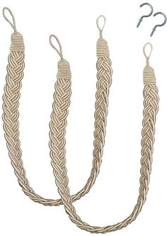 Bali Braided 2-pack Curtain Tiebacks