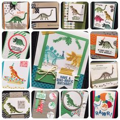 Snippets of display samples from'No Bones About It' Stampin' Up!