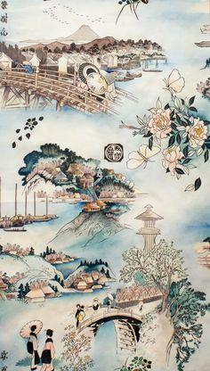 Tokaido Road by ALineFabrics on Etsy