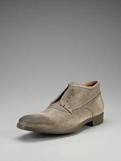 John Varvatos Footwear Canvas Chukka Boots