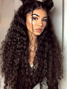 Lace Front Black Wig short curly wigs for african american women undetectable Lace hair wigs – hairstyles for curly hair natural Hairstyles With Bangs, Trendy Hairstyles, Long Curly Hairstyles, Black Hairstyles, Short Haircuts, Hairstyles 2016, Latina Hairstyles, Side Ponytail Hairstyles, Medieval Hairstyles