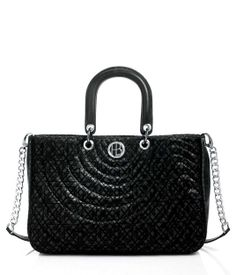 """No. 7 Quilted Fabric Zip Satchel 