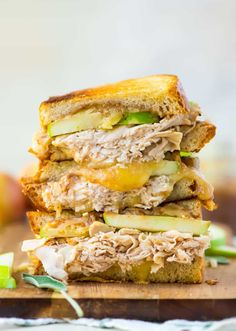Apple Grilled Cheese with Cheddar and Turkey
