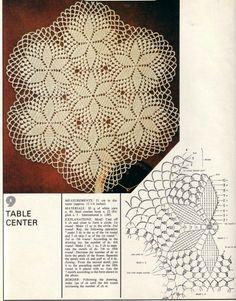 Magic crochet № 4 - Edivana - Picasa Web Albums Crochet Doily Diagram, Crochet Flower Tutorial, Crochet Chart, Crochet Motif, Crochet Flowers, Crochet Patterns, Crochet Cross, Crochet Home, Thread Crochet