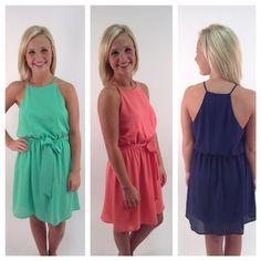 Solid print dresses