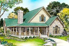 low country bungalow house plans | Plan W46015HC: Cottage, Hill Country, Country House Plans & Home ...
