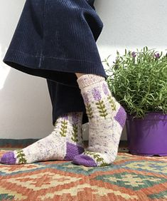 Ravelry: Blooming Lavender socks pattern by Stone Knits Different Stitches, Knitting Socks, Knit Socks, Circular Needles, Finger Weights, Sock Yarn, Needles Sizes, Main Colors, Knitting Patterns