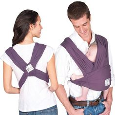 Baby K'Tan Wrap Baby Carrier - Eggplant
