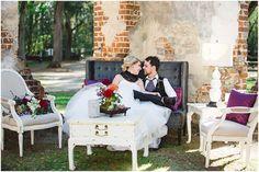 Dark Dramatic Wedding Inspiration - Old Sheldon Church - Morgan Gallow Events   Izzy Hudgins Photography Blog