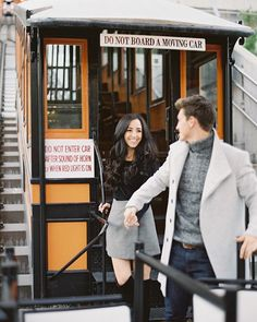 Sick days have me looking back through the archives and appreciating all the amazing days out in the city exploring and shooting with my clients. This is one of my favorite moments from a recent engagement session in Downtown Los Angeles with the most loving couple. Pictured here is the iconic #angelesflight a cable car trolly originating in 1901 is now in operation connecting Los Angeles Downtown Historic Core and Bunker Hill.  #engagementphotography #engaged #losangelesweddingphotographer…