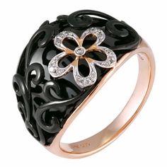 14K Rose Gold Women's Diamond Ring