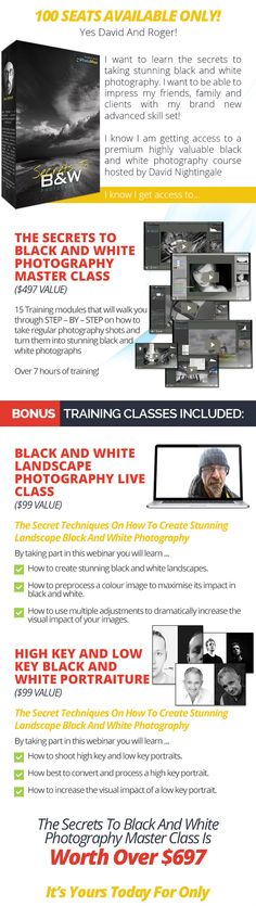 Secrets To Black And White Photography Master Class - David Nightingale