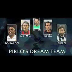 فريق احلام #بيرلو الخماسي by calciocasa