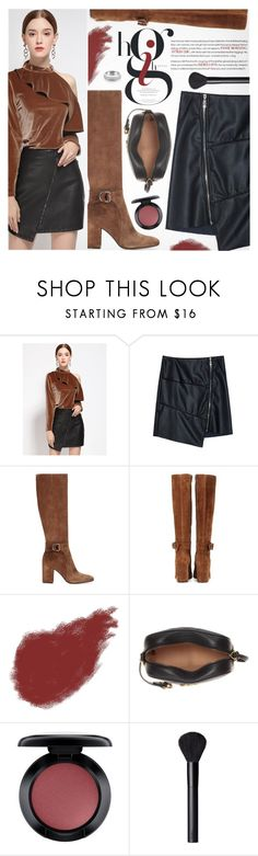 """Love leather"" by metisu-fashion ❤ liked on Polyvore featuring Gianvito Rossi, Bobbi Brown Cosmetics, Gucci, MAC Cosmetics, NARS Cosmetics, imthankfulfor and metisu"