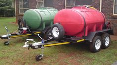Fire fighter trailers Work Trailer, Trailer Build, Dump Trailers, Water Delivery, Atv Accessories, Kubota, Water Systems, Water Tank, Welding