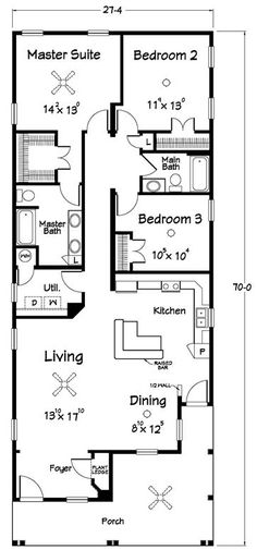 14×70 Mobile Home Floor Plan double wide mobile home floor plans | double wide homes