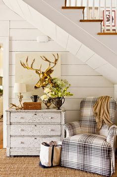 Update furniture with tartan upholstery for a seasonal touch   Plaid is Rad