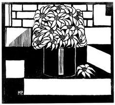 Margaret Preston (Australian, Flannel flowers, Relief woodcut, printed in black ink, from one block; Australian Flowers, Australian Plants, Margaret Preston, Art Nouveau Tattoo, Lino Art, Victoria Art, Flannel Flower, Black And White Design, Australian Artists