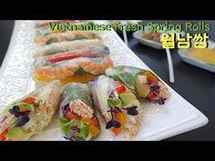 [월남쌈][폼나는 건강요리][피시소스][엄마가 딸에게] - YouTube Fresh Spring Rolls, Fresh Rolls, Sushi, Ethnic Recipes, Food, Essen, Meals, Yemek, Eten