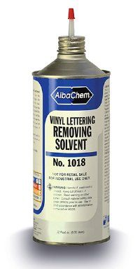 Albachem 20oz Letter Removing Solvent For Fabrics Vinyl Lettering Heat Transfer Vinyl Vinyl