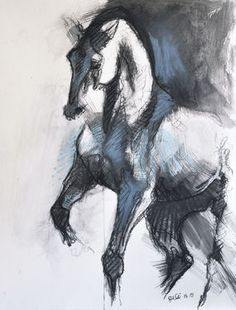 """Saatchi Art Artist Benedicte Gele; Drawing, """"Equilibre X"""" #art (Woolf)"""