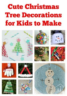 Are you looking to create a family Christmas Tree filled with love and memories this holidays? There is no better way to do this, than to have your own children make the decorations to go onto your Christmas Tree.  Below you will find 12 different ideas for 12 Christmas Tree Decorations, that will be as unique as your child, when you add them to your own Christmas Tree.
