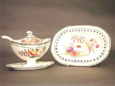 English creamware dessert service - Stock - Moxhams Antiques