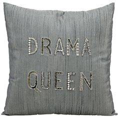 "Mina Victory Luminescence Drama Queen 18"" Square Pillow ($60) ❤ liked on Polyvore featuring home, home decor, throw pillows, pillows, home textiles, square throw pillows, beaded throw pillows, gray accent pillows, grey throw pillows and handmade home decor"