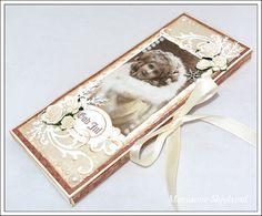 Mariannes papirverden.: Vintage sjokoladekort - Pion Design