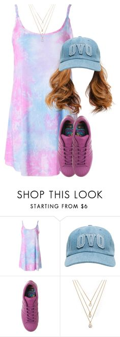 """""""941"""" by tuhlayjuh ❤ liked on Polyvore featuring adidas and Forever 21"""