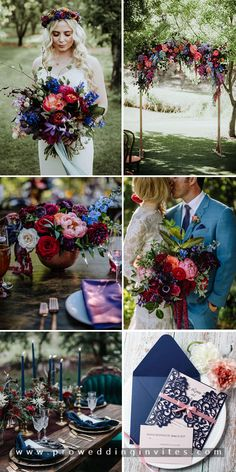 Navy and Mauve. Sweet and Simple. Charming and Classic, which will WOW your guests without doubt! August Wedding Colors, Navy Wedding Colors, Wedding Color Pallet, Jewel Tone Wedding, Mauve Wedding, Summer Wedding Colors, Fall Wedding Flowers, Wedding Color Schemes, Dream Wedding
