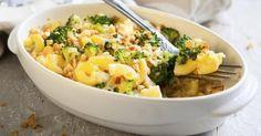 Recette de Grâtin de pâtes aux brocolis et jambon à la sauce blanche légère. Facile et rapide à réaliser, goûteuse et diététique.