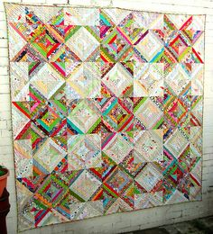Hey, Mom! I'm coming to raid your scraps to make this quilt.... you won't have to wonder what to do with all that fabric. :)