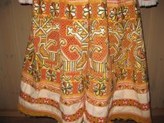 Apron, details. Folk costume from Cicmany.