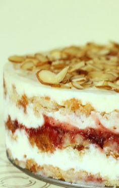 Strawberry Almond Layer Cake