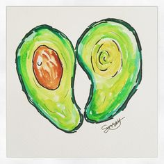 One of my passions is art, I love to paint. Here is a hearty, healthy fat that you have to love. The very versatile avocado. #avacado #love #fat #heart #health #green #food #illustrate #art #draw #foodart #paint #eat #food #create