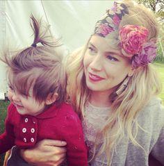 beautiful Sienna Miller with daughter Marlowe