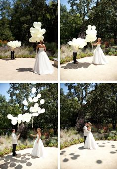 would have to find the right couple for this, but I love the shadows of the balloons.
