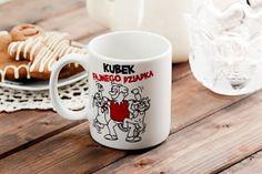 Kubek ceramiczny boss z napisem QBEK FAJNEGO DZIADKA 300 ml