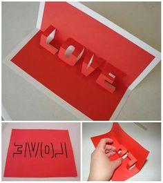 Easy DIY Love Valentines Day Card for him Easy DIY Love Valentines Day Card for him,Paper Crafts! Easy DIY Love Valentines Day Card for him Related posts:Einfache und schöne DIY-Projekte mit. Diy Simple, Easy Diy, Love Valentines, Valentine Day Gifts, Pinterest Origami, Saint Valentin Diy, Valentines Bricolage, Papier Diy, Diy Origami